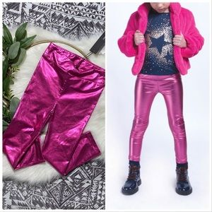 New! Imoga metallic orchid pink leggings